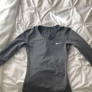 Gray Nike Dri-Fit Long Sleeve